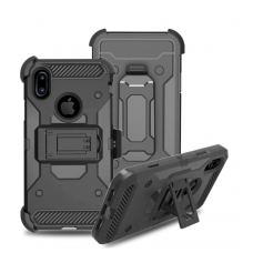 3 in 1 Tough armor w/ holster Case  Black